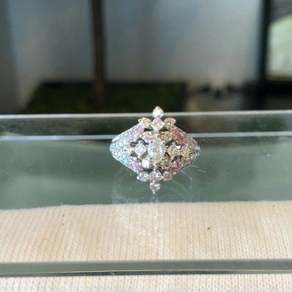 Ladies 60 Diamonds Fashion Ring 1.10CTW 14KWG