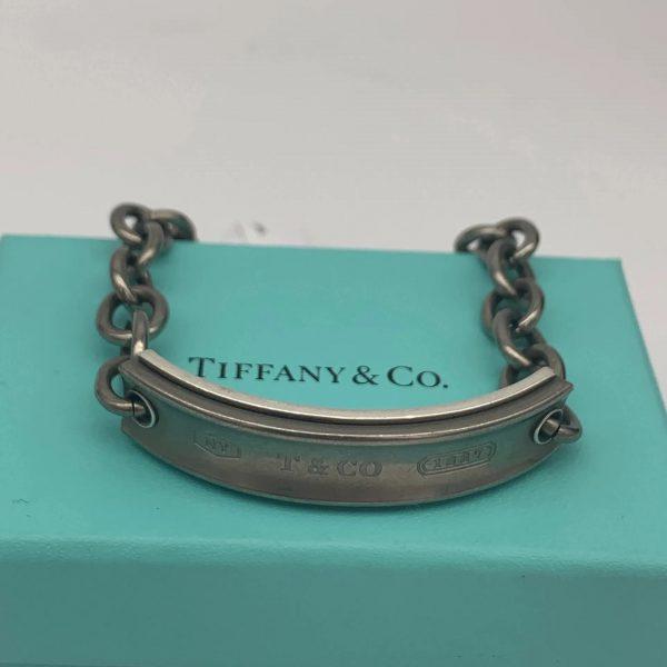 Tiffany & Co. Galaxy 1837 Id Bracelet In Sterling Silver & Titanium